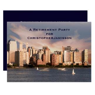 Convite de festas da aposentadoria, skyline de NYC