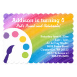 Convite de festas da arte do arco-íris