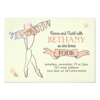 Convite de festas da bailarina/balé