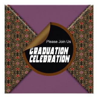 Convite de festas da celebração da graduação