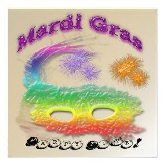Convite de festas da máscara do carnaval