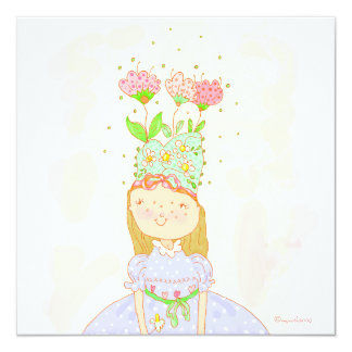 convite de festas da menina do aniversário da flor