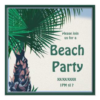 Convite de festas da palma do piquenique da praia