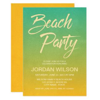Convite de festas da praia do aniversário do