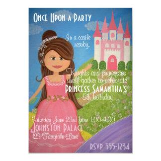 Convite de festas da princesa Castelo Miúdo do