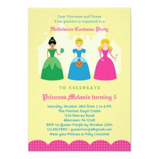 Convite de festas da princesa Traje do Dia das Convite 12.7 X 17.78cm