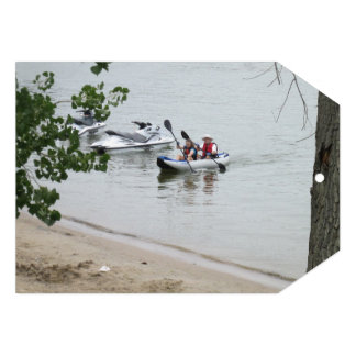 Convite de festas da viagem da canoa