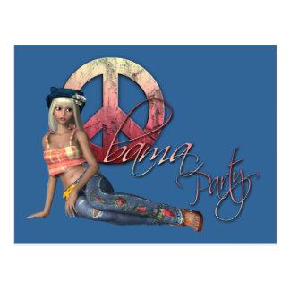 Convite de festas de Obama do Hippie Cartão Postal