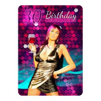 Convite de festas do aniversário de 30 anos - na