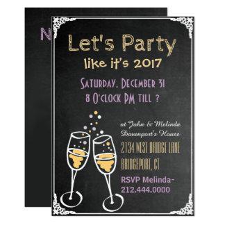 Convite de festas do ano novo da tipografia do