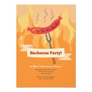 Convite de festas do assado