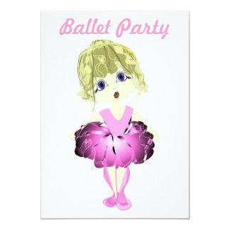 Convite de festas do balé convite 12.7 x 17.78cm