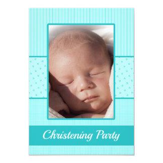 Convite de festas do batismo do bebé