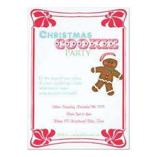 Convite de festas do biscoito do Natal do homem de