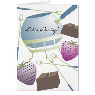 convite de festas do chocolate das morangos do