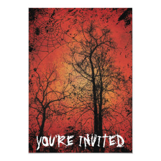Convite de festas do Dia das Bruxas do Grunge
