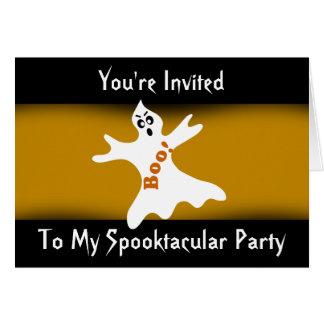 Convite de festas do fantasma de Spooktacular o Cartão Comemorativo