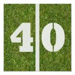 Convite de festas do futebol do aniversário de 40