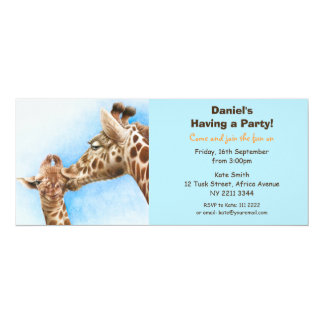 Convite de festas do girafa & da vitela