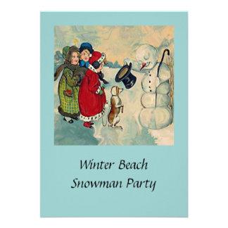 convite de festas do inverno