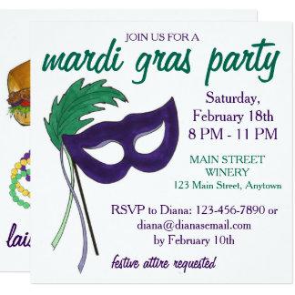 Convite de festas do mascarada do carnaval de Nova