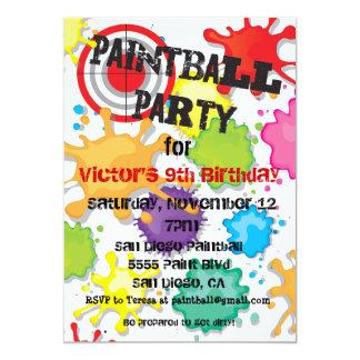 Convite de festas do Paintball