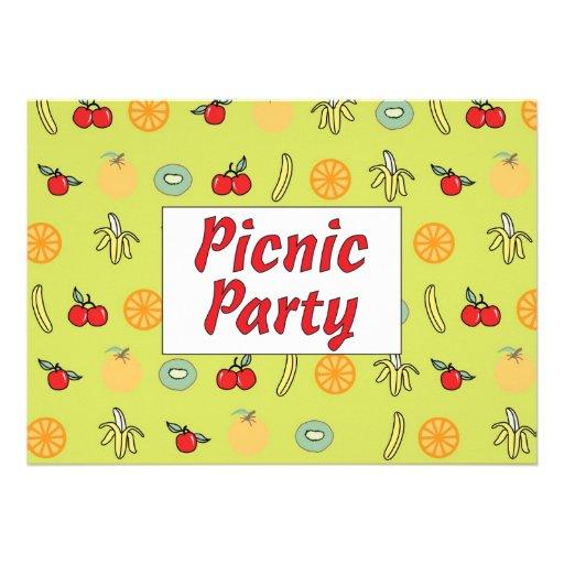 Convite de festas do piquenique