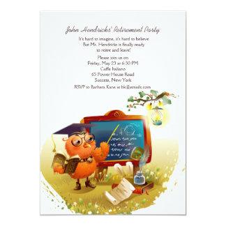 Convite de festas do professor Aposentadoria da