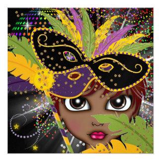 Convite de festas do traje do carnaval por SRF
