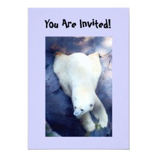 Convite de festas do urso polar