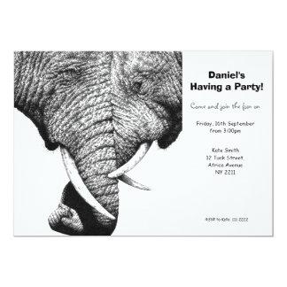 Convite de festas dos elefantes africanos