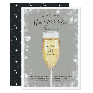 Convite de festas efervescente da véspera de Ano