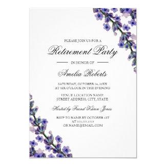 Convite de festas elegante da aposentadoria da