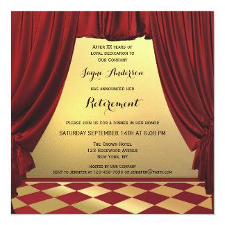 Convite de festas elegante da aposentadoria do