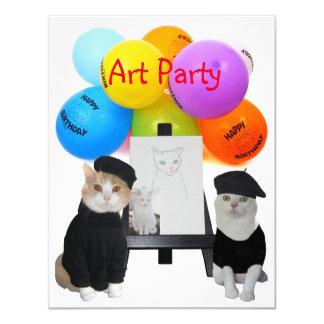 Convite de festas engraçado customizável da arte