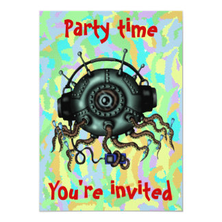 Convite de festas estrangeiro bonito engraçado dos