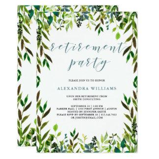 Convite de festas glorioso da aposentadoria das