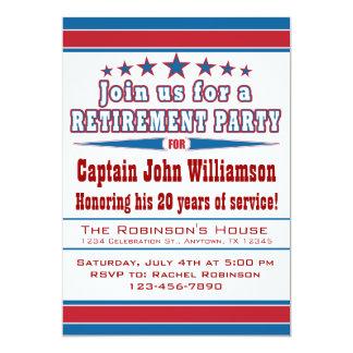 Convite de festas militar da aposentadoria