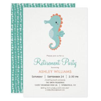 Convite de festas náutico da aposentadoria do