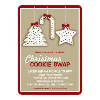 Convite de festas (nuetral) da troca do biscoito