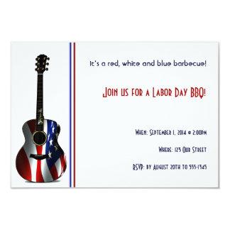 Convite de festas patriótico do Dia do Trabalhador