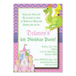 Convite de festas pequeno da princesa conto de