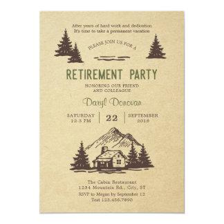 Convite de festas rústico da aposentadoria da