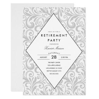 Convite de festas simples da aposentadoria da
