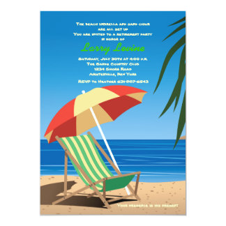 Convite de festas Sunbathing da aposentadoria do