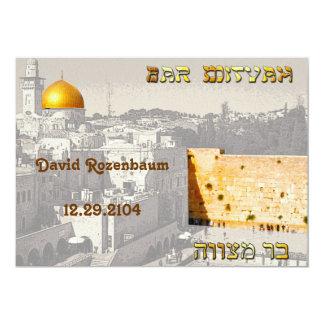 Convite de Mitzvah do bar