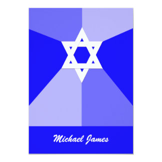 Convite de Mitzvah do bar - a estrela de David Convite 12.7 X 17.78cm