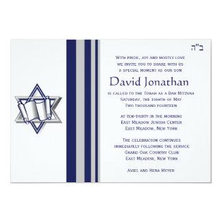 Convite de Mitzvah do bar da estrela de David