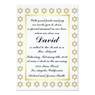 Convite de Mitzvah do bar da estrela de David do