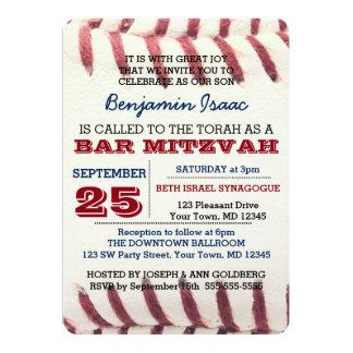 Convite de Mitzvah do bar da textura do basebol